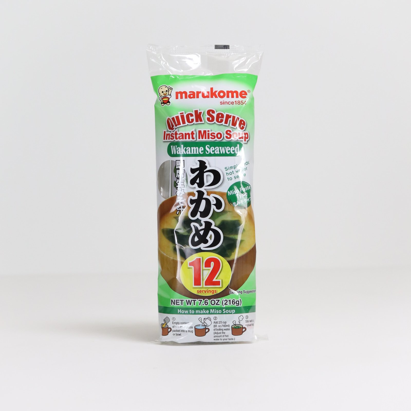 Marukome Instant Miso Soup with seaweed (12 servings)