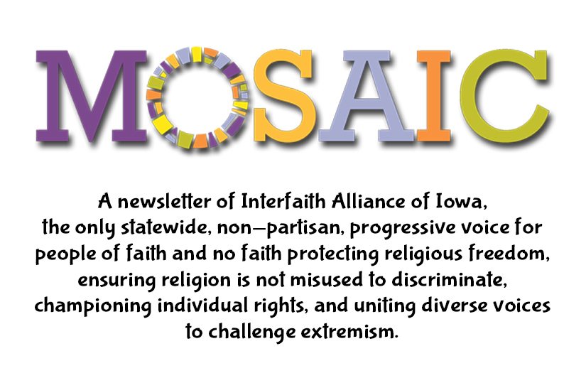 MOSAIC weekly e-newsletter