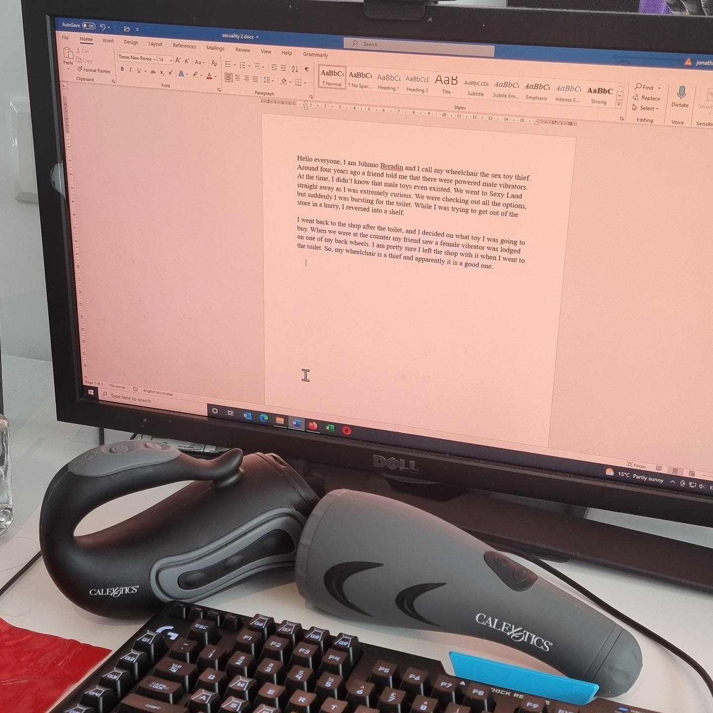 Working on my presentation for ARATA about sexual devices for people with disability.