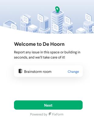 Welcome screen messenger flow - report a problem