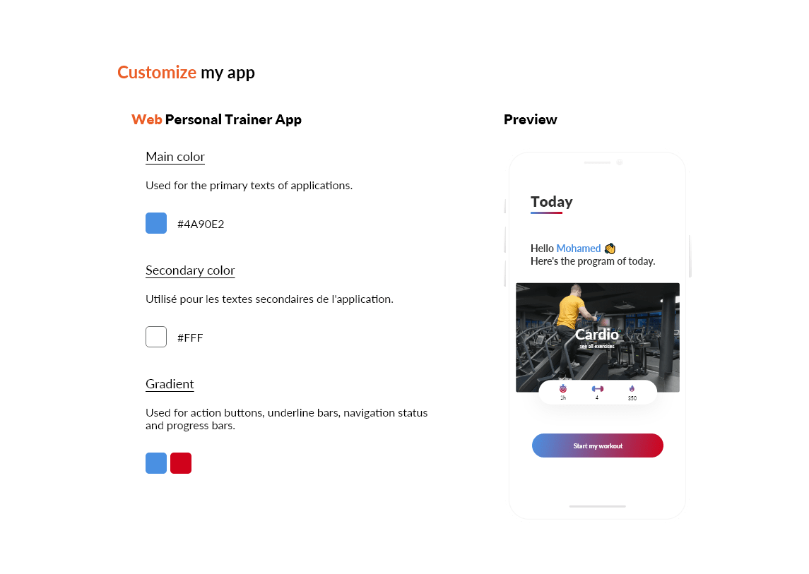 Personalized Web Coach app