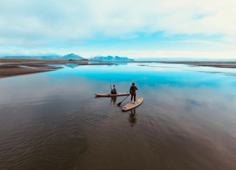 Paddle sur un lac