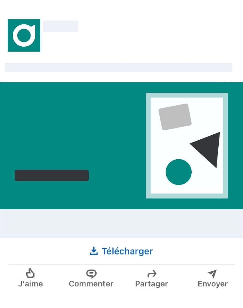 Etape 1 pour l'affichage dans le feed de votre publicité LinkedIn Ads.  Insérer un lien docduo pour le contenu de votre publicité LinkedIn