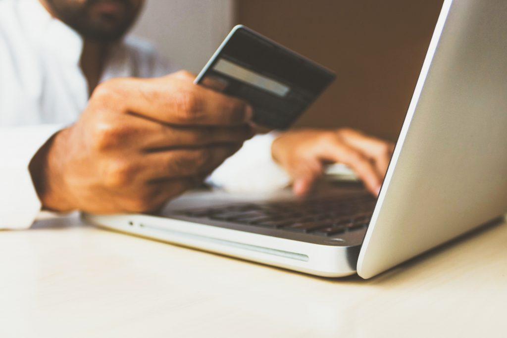 customer making online purchase