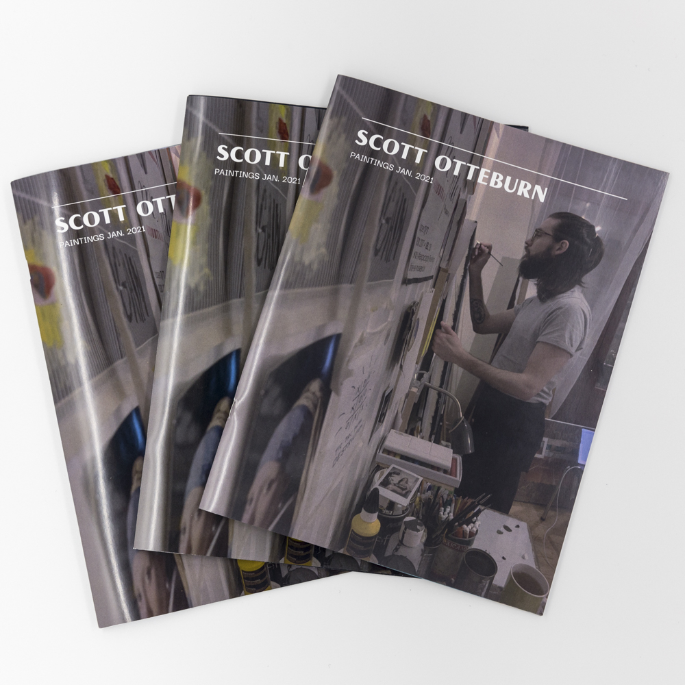 Image of a booklet displaying the artwork of artist Scott Otteburn.