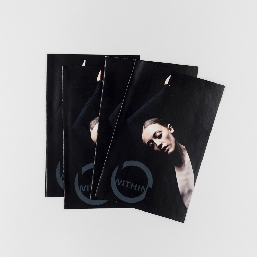 Image of a booklet with a photo of a dancer on the cover.