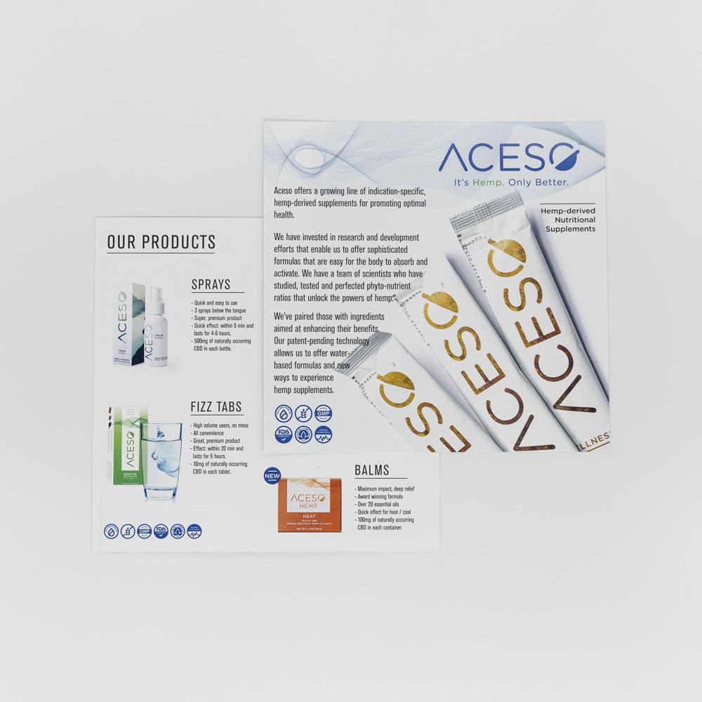 Image of a brochure advertisement for a hemp supplement.