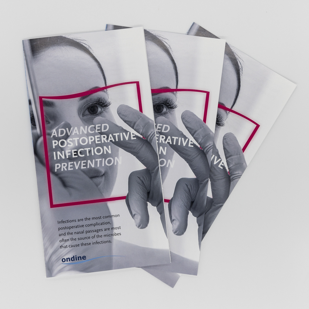 Image of a trifold brochure for a medical procedure.