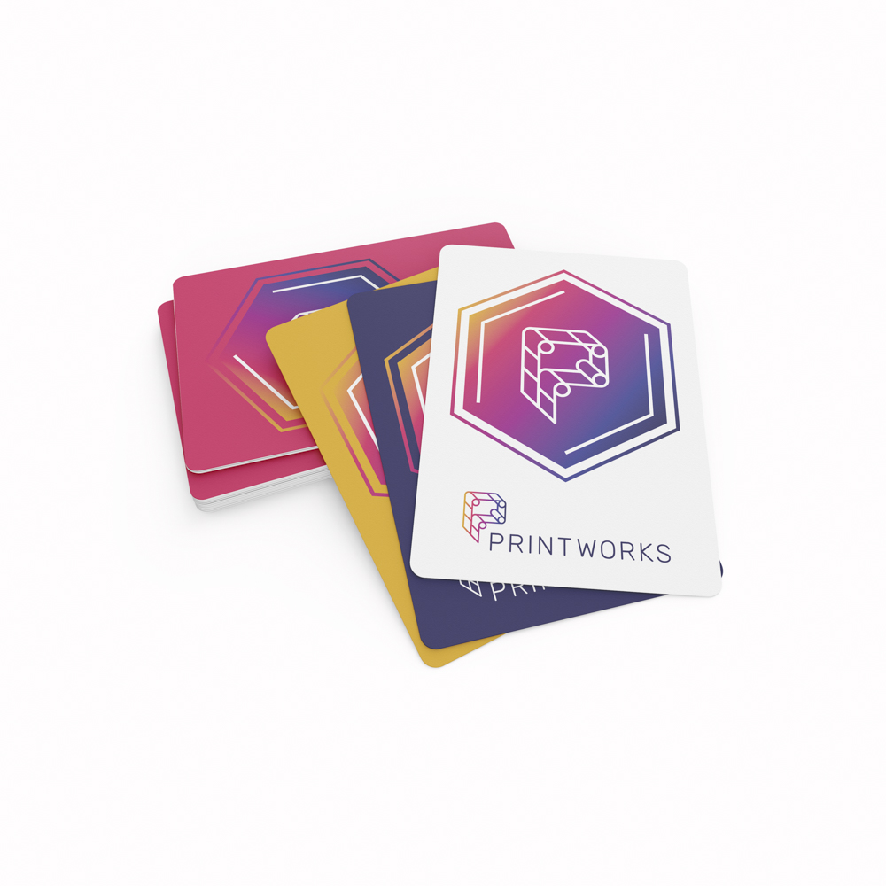 Image of custom playing cards with individualized printing on each card