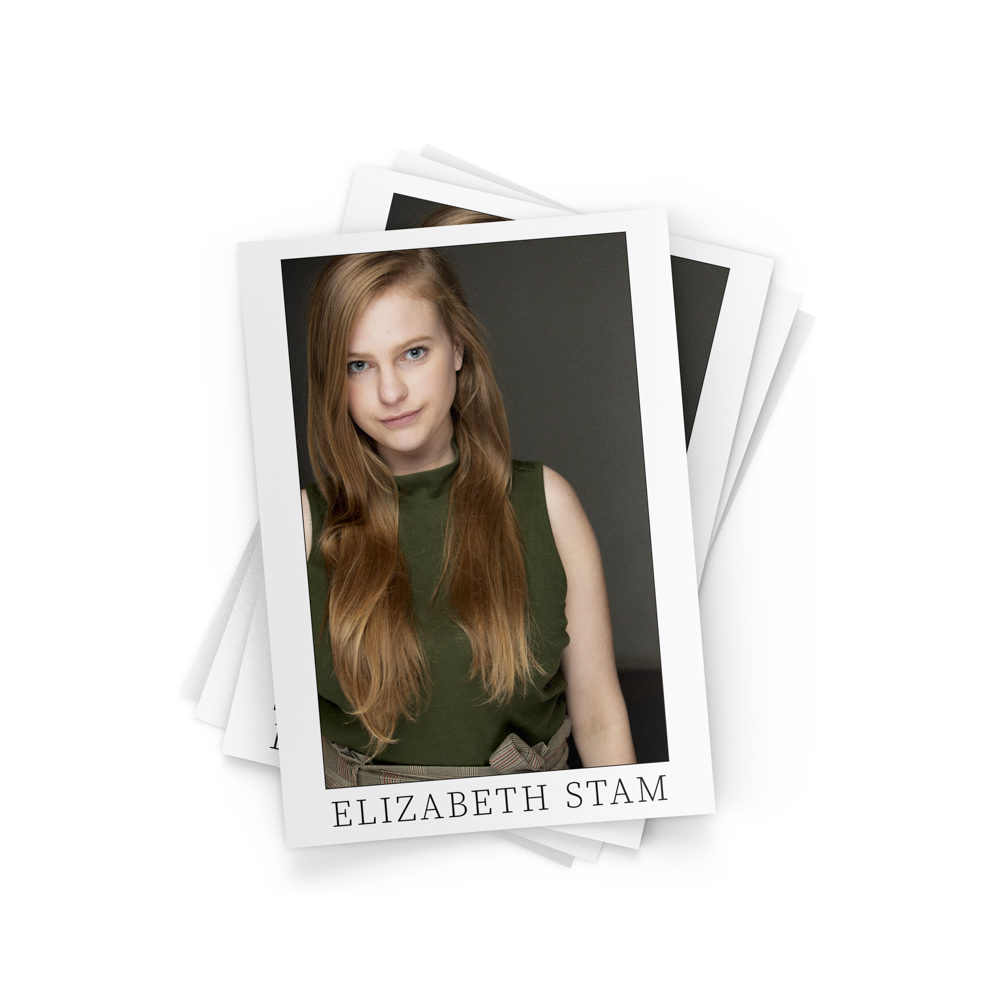 Images of premium quality printed headshots of actors