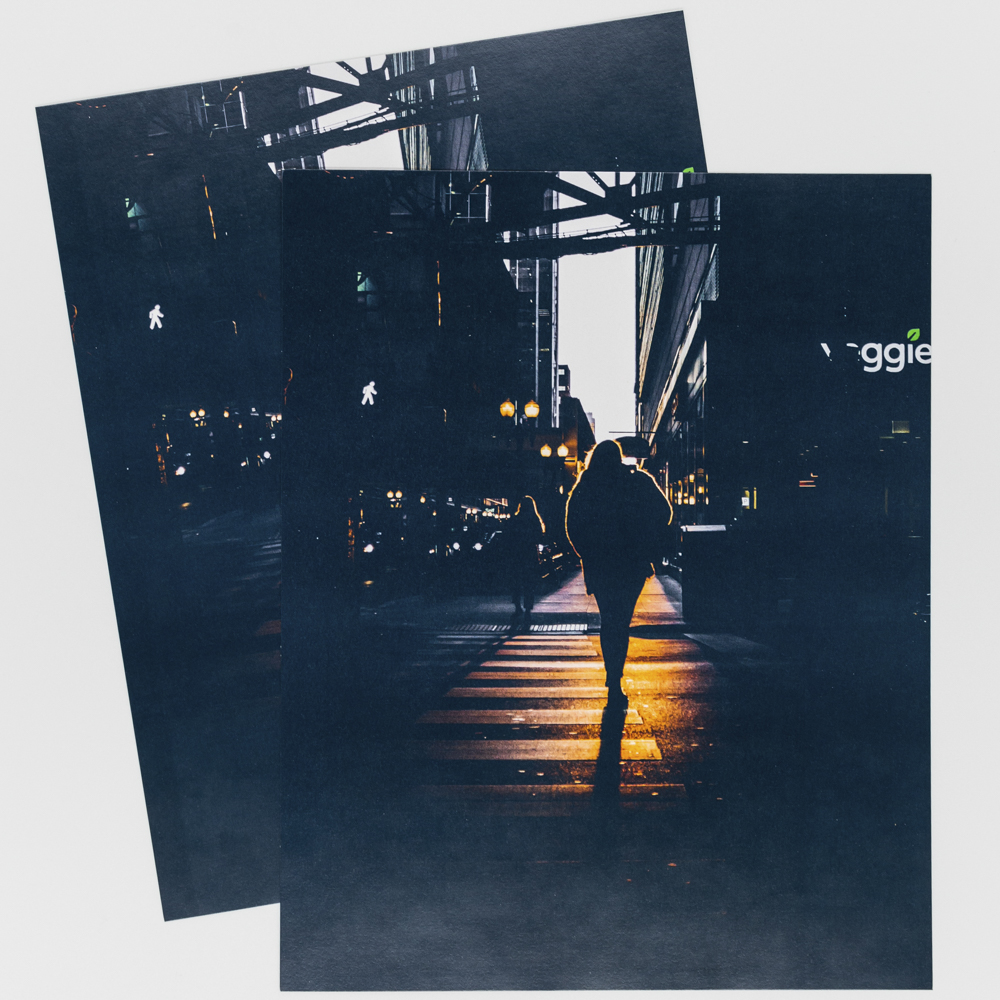Photo with the image of a person walking under a bridge.