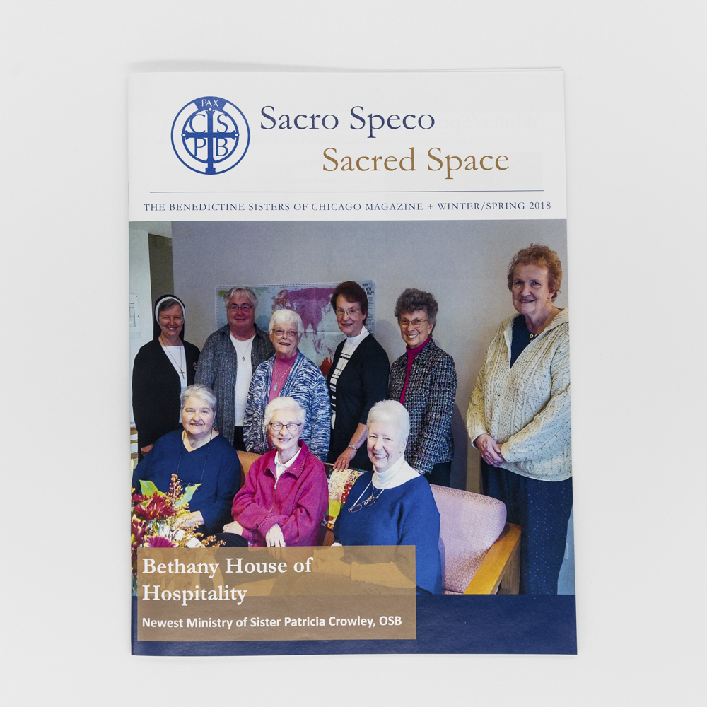 Image of a presentation booklet for a church.