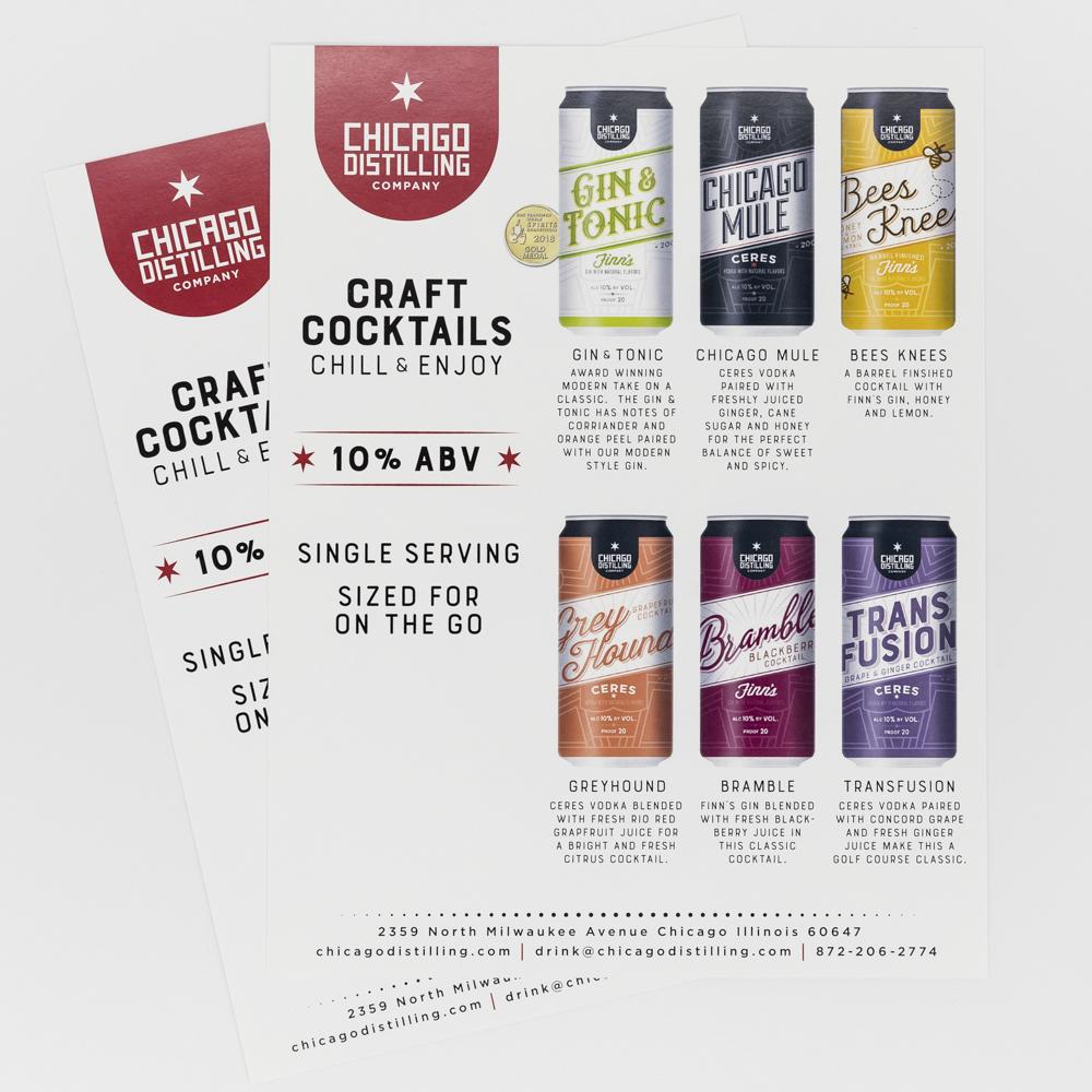 Image of craft cocktail presentation.