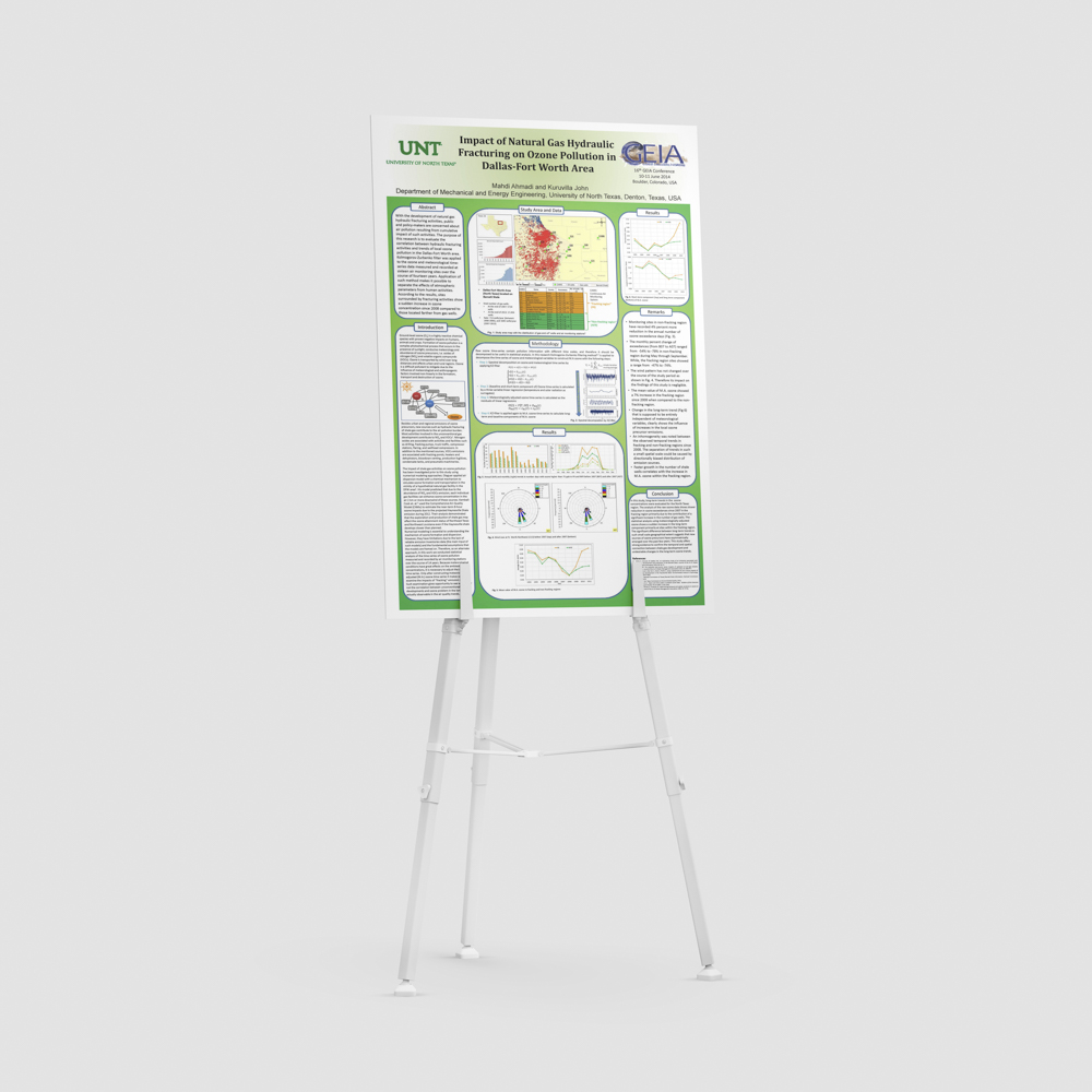Scientific poster with hydraulic fracturing presentation.