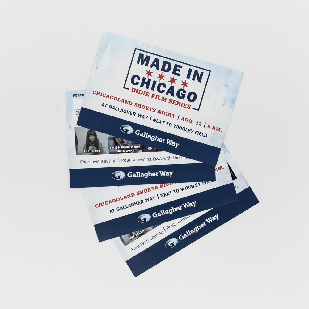 """Flyer with """"made in chicago"""" text."""
