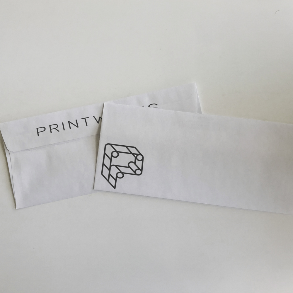 Image of envelope with Chicago Printworks branding.