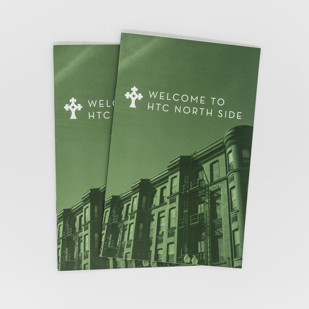 Image of custom printed welcome card for a church.