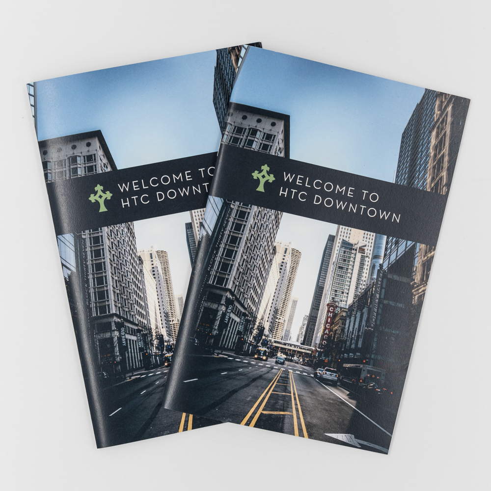 Image of custom printed program booklet for Holy Trinity Church.