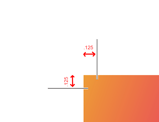 Image depicting the proper amount of bleed.