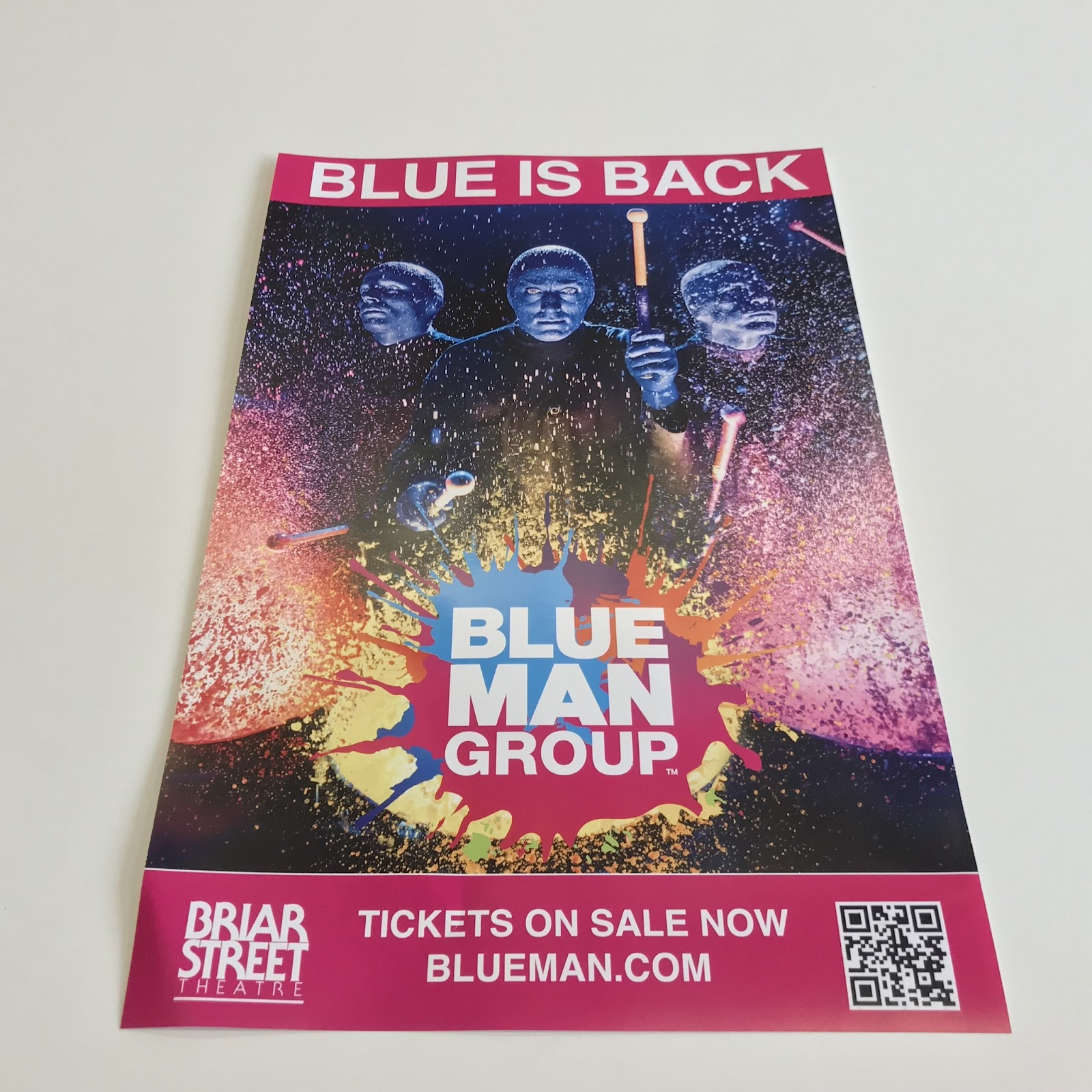 11x17 poster for Blue Man Group