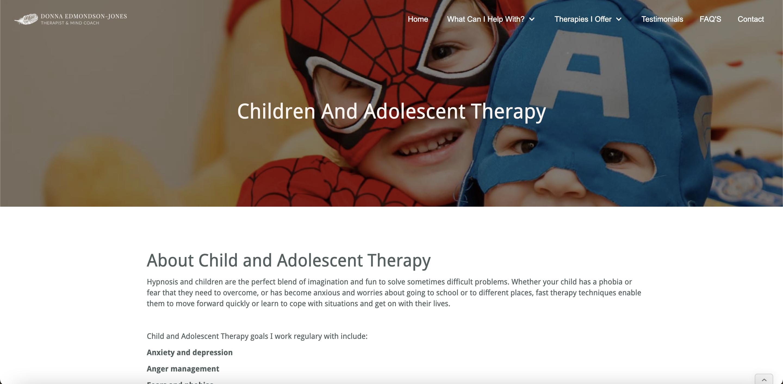 therapist new website