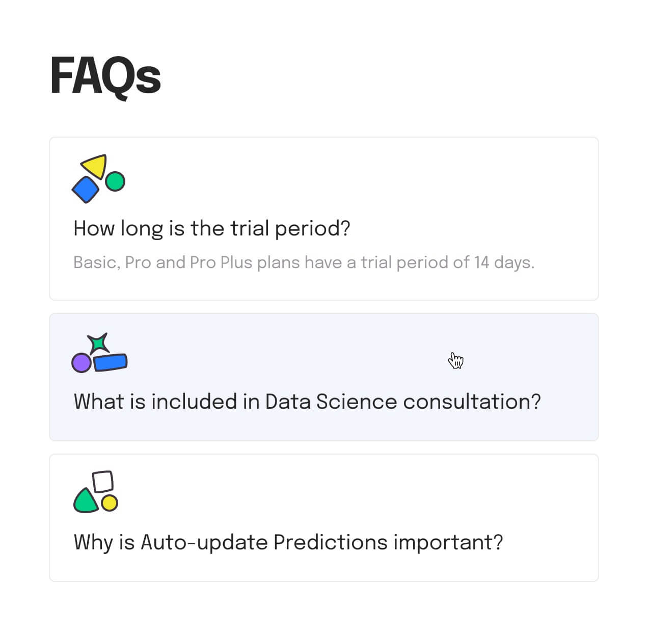 FAQs section