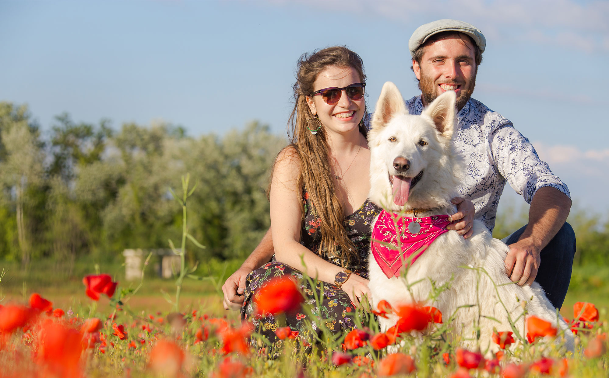 Photo famille avec chien Avignon, Frederic Sicard Photographe