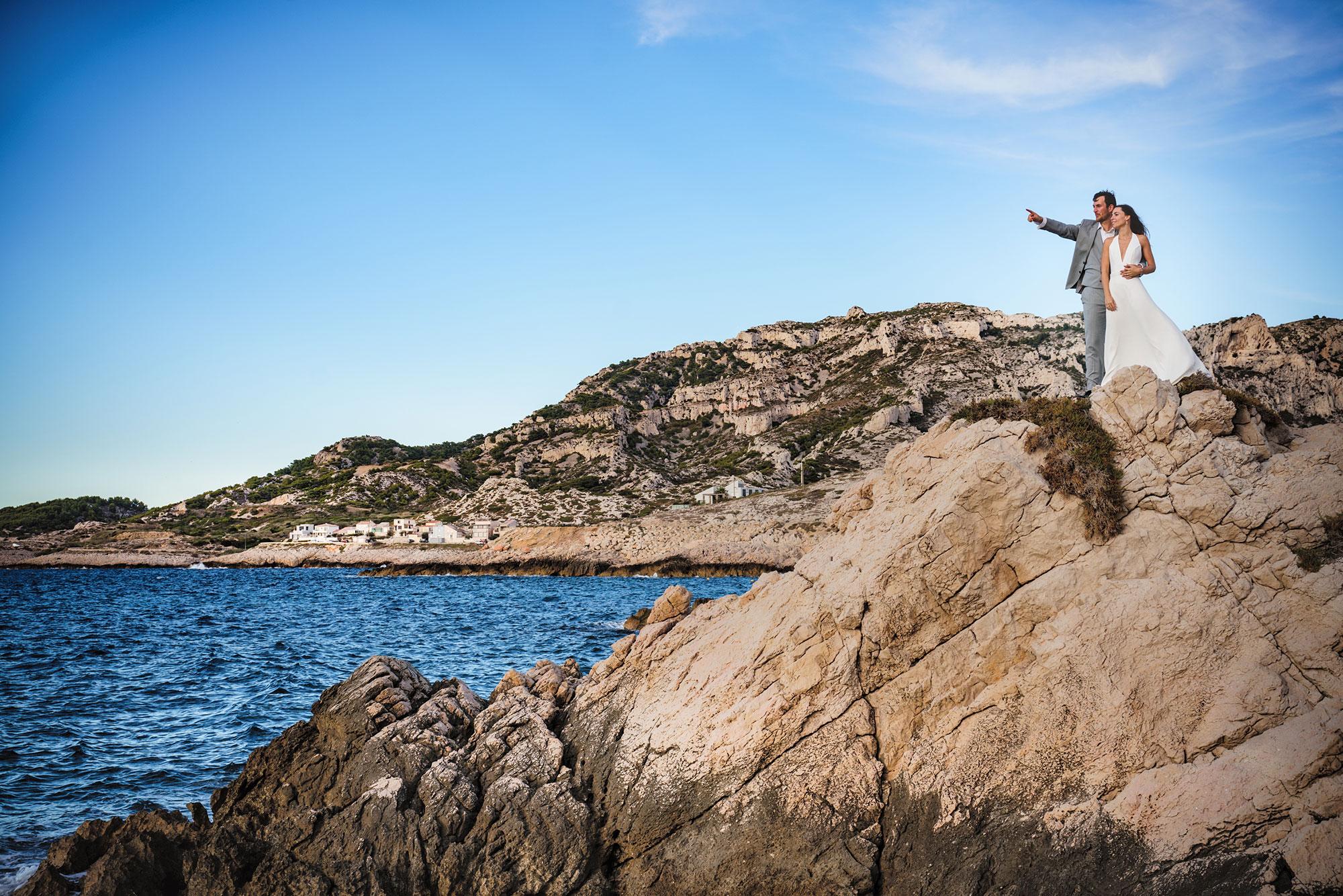 Photo de mariées à la mer, drederic Sicard Photographe