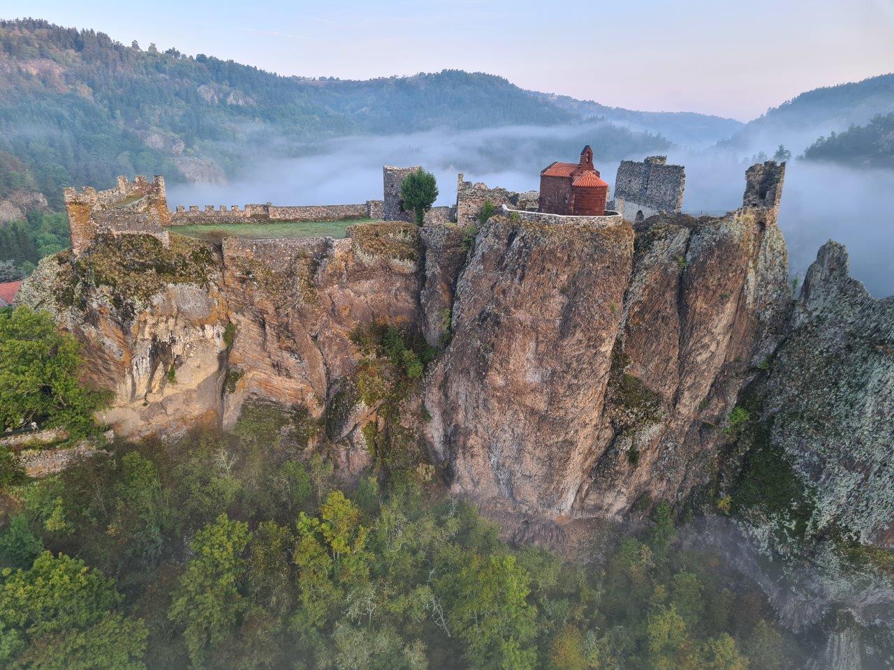 Photo aérienne du château