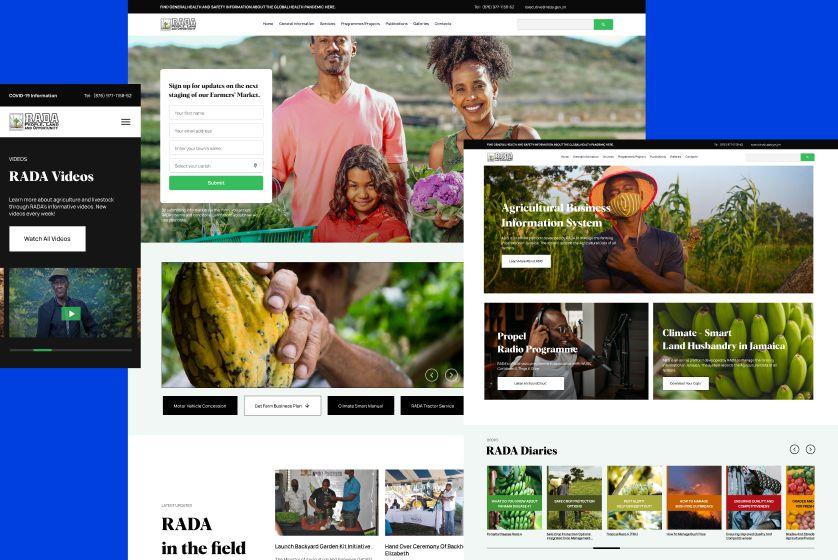 RADA website redesign