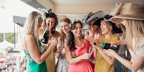 women attending a party
