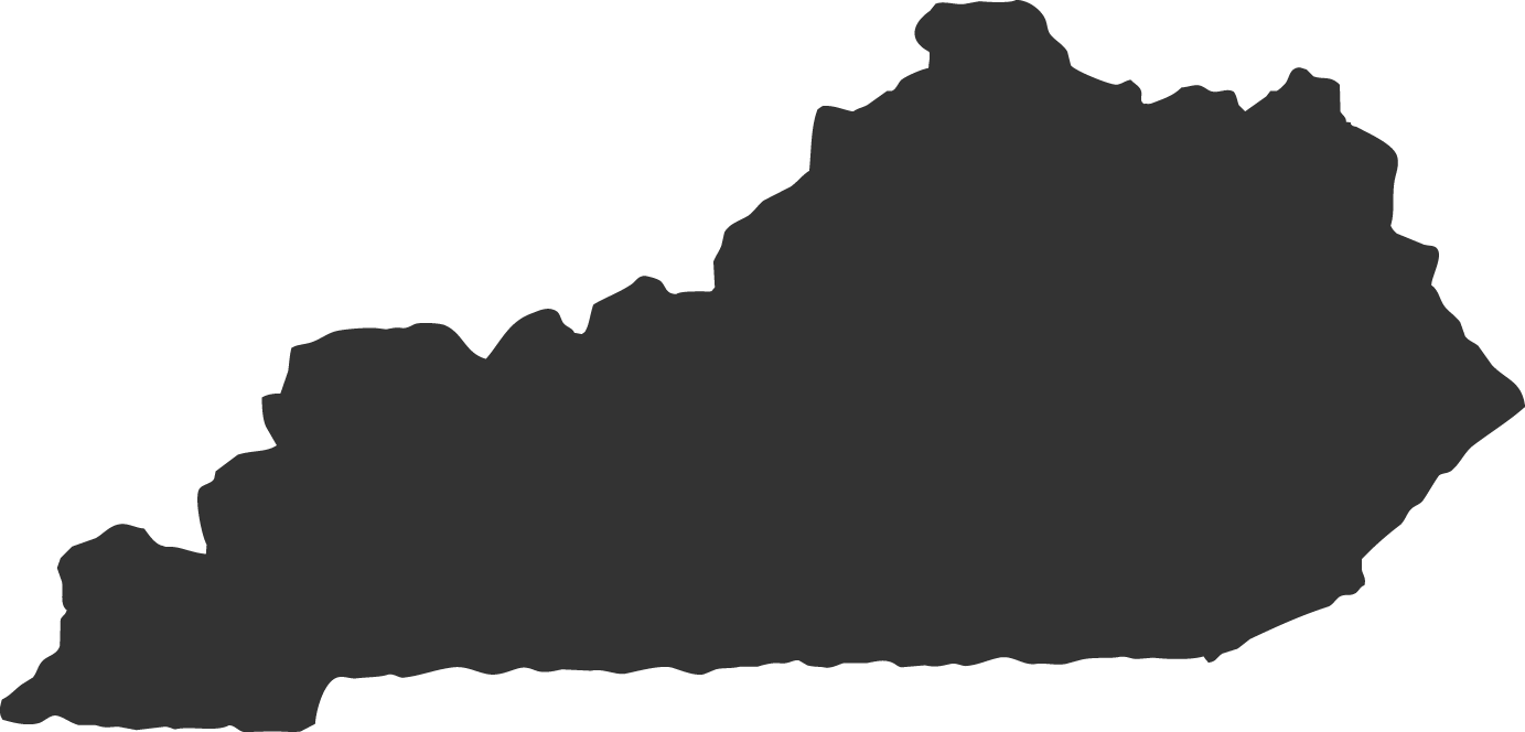 An outline of the state of Kentucky, illustrating where Dot Neutral is located.