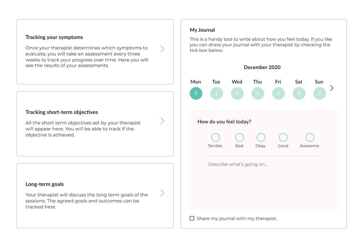 Image of Mindsum's platform for tracking your progress