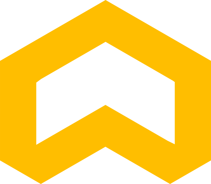Single yellow up-facing arrow.