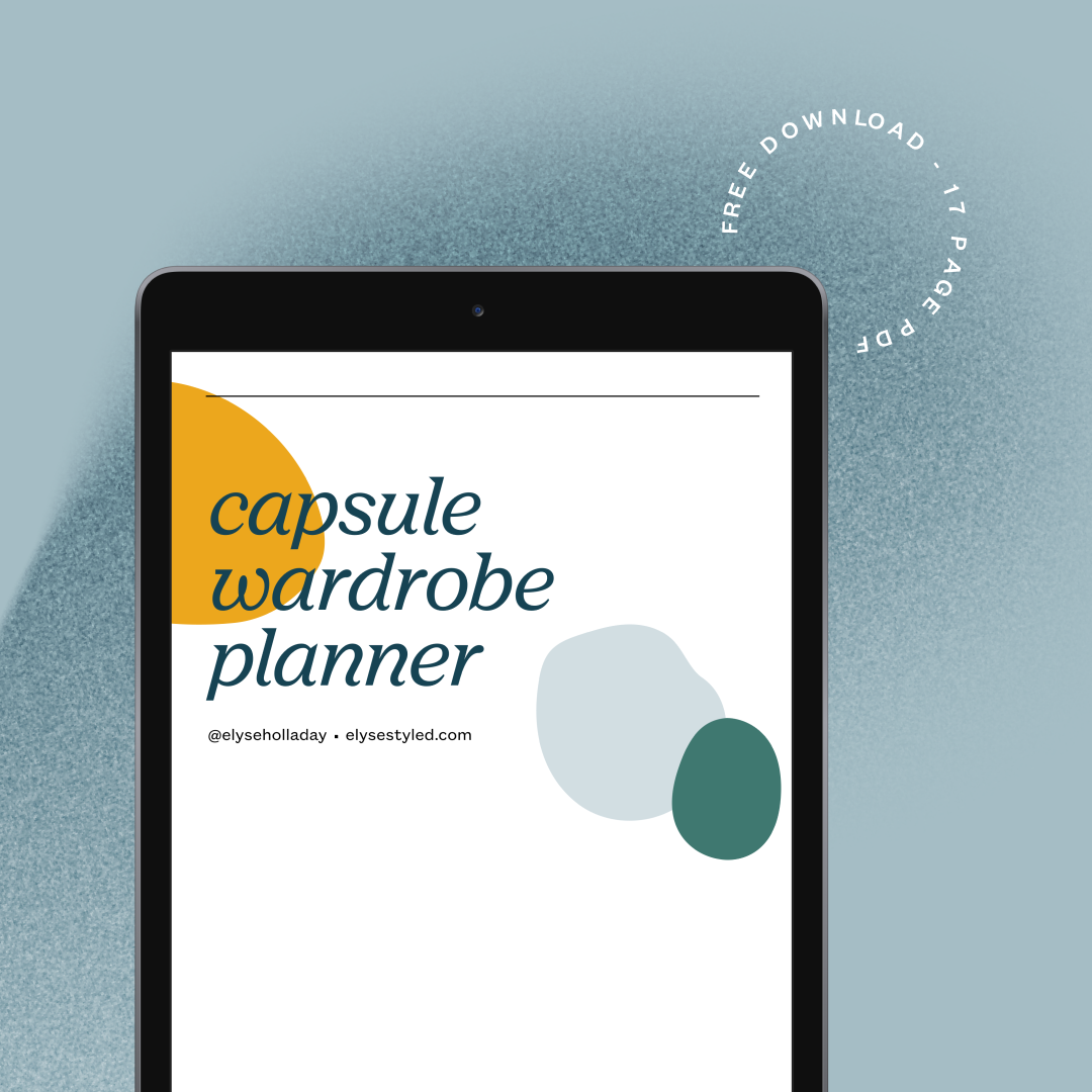 banner showing the Capsule Wardrobe Planner on an iPad