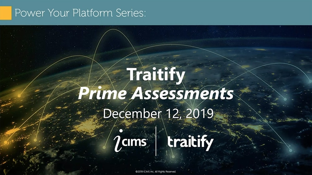 iCims Webinar with Traitify
