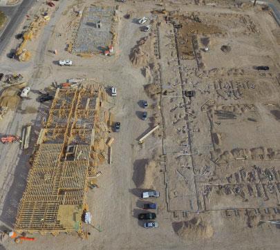 Progress at the Rock Springs framing project
