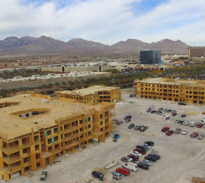 Progress at the Village 13 project  by National Builders, Inc.
