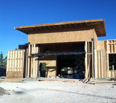 Progress at the Chase bank project by National Builders, Inc