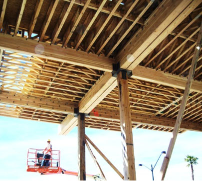 Close up of the Alta Monticito framing project