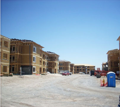 Colonial apartments project by National Builders, Inc.
