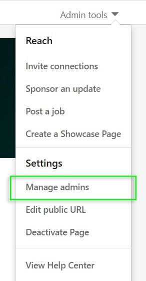 add linkedin admins