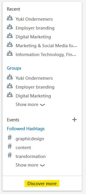 hashtags you follow linkedin