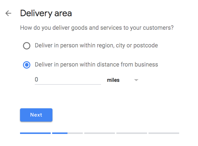 delivery location