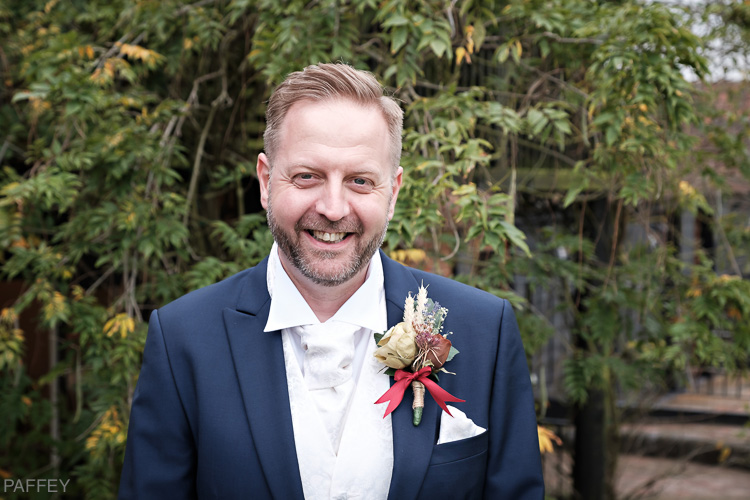 picture of groom at Crondon Park