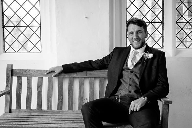 a groom looking cool