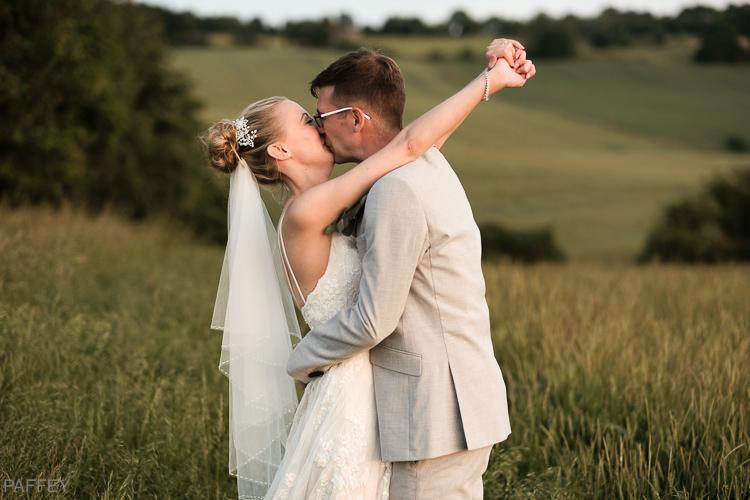 passionate wedding photograph