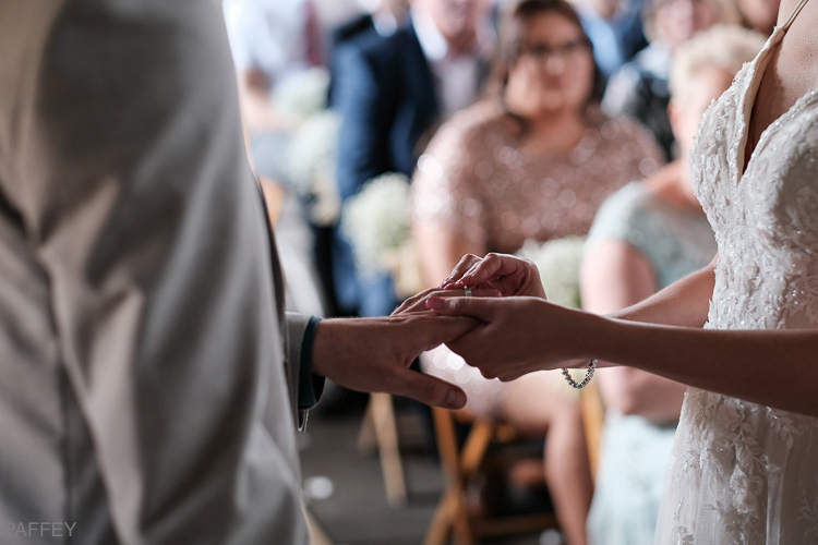 putting on the wedding rings