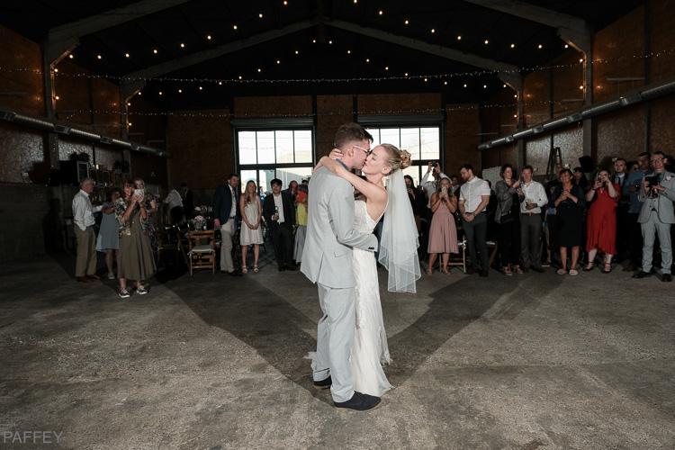 first wedding dance in the barn