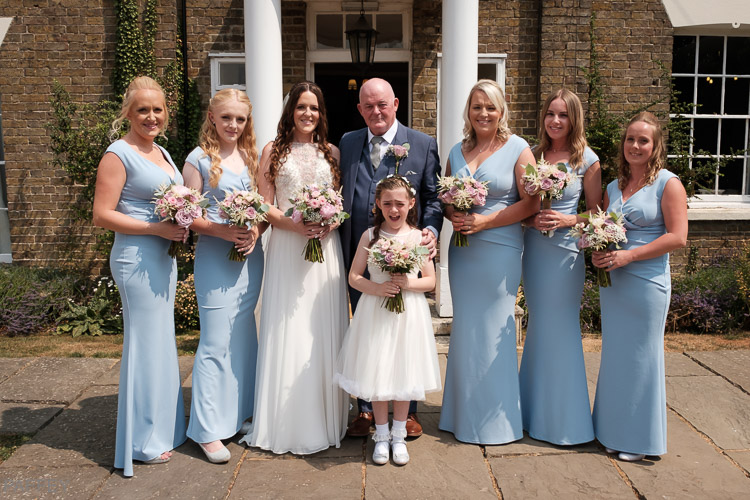 bridal party at the reid rooms
